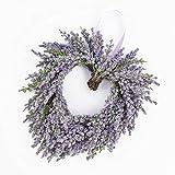 Deko Lavendelherz, violett, Ø 20 cm - Künstlicher Kranz / Türkranz -...