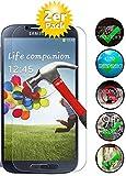 Smartphone Equipment [2er Pack] Panzerglas für Samsung Galaxy S4 gehärtetes Glas 9H, Echtglas Glasfolie Glas Folie Schutzfolie Panzerglasfolie Panzerfolie Displayschutz