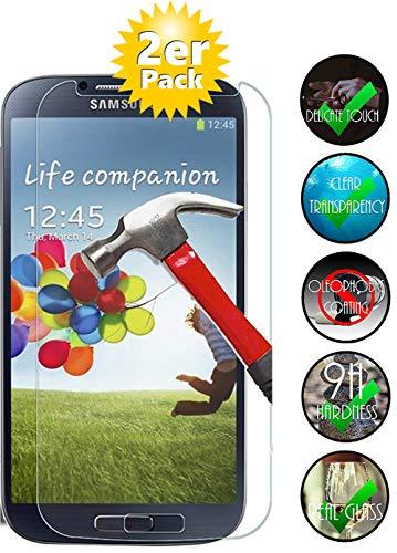Smartphone Equipment [2er Pack] Panzerglas für Samsung Galaxy S4 gehärtetes Glas 9H, Echtglas Glasfolie Glas Folie Schutzfolie Panzerglasfolie Panzerfolie Bildschirmschutz