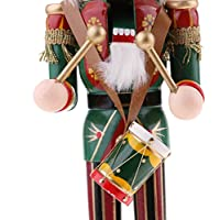 F Fityle 30cm Viva Figuras de Soldado Madera Modelo de Cascanueces Ornamentos de Artesanía de Cascanueces para Navidad - C