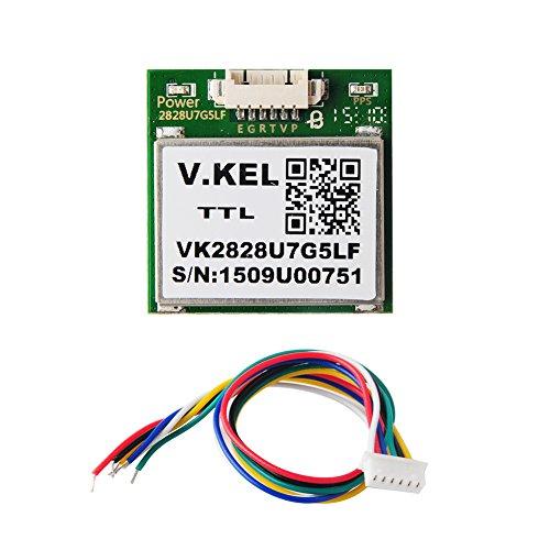 1-10Hz VK2828U7G5LF Módulo receptor de TTL GPS con antena Flash + GPS para aviones Quadcopter Control de vuelo Arduino Frambuesa Pi