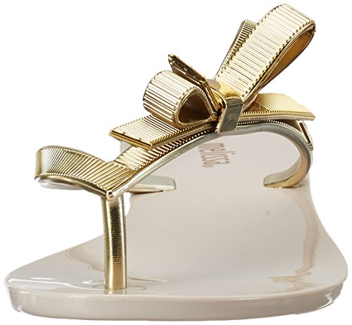 Melissa Damen Harmonic Chrome Offene Sandalen Beige (Beige/Gold)