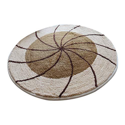 Liangzishop-Bodenschutzmatte Runder Drehstuhl-Computer-Stuhl Anti-Rutsch-Matten-Teppich-Türmatte, Polyester-Material, maschinenwaschbar (Color : A, Größe : 100 * 100cm) -