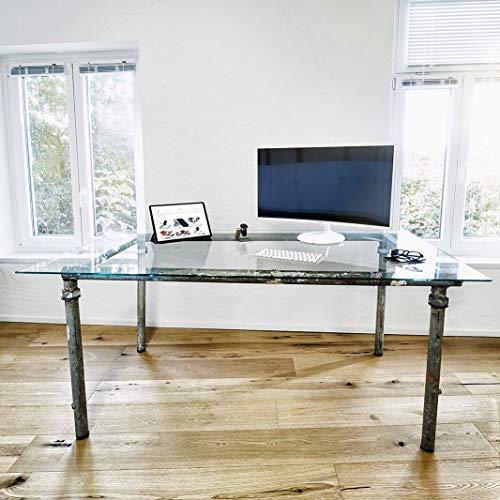 INDULOU Glastisch aus Baugerüst im Industrial Design Individueller Schreibtisch, Esstisch...