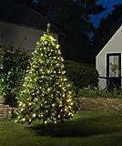 JACK LED Lichternetz Trapez Kegel Warmweiß Netz für Weihnachtsbaum Auswahl von 90-250cm, Länge:80 LED 90-130cm