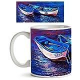 ArtzFolio Artwork Of Boats And Sea : Glo...