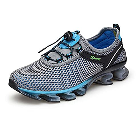 Homme Chaussures de Course Outdoor Sports Fitness Gym Entraînement Baskets Camping et randonnée engrener Sneaker de mode (EUR46=UK10, gray)