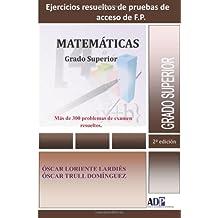 Pruebas de acceso a F.P. matemáticas Grado Superior
