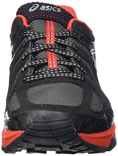 Asics Gel-FujiAttack 5 G-TX, Chaussures de Trail Homme Noir (Black/silver/vermilion)