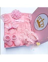 SHISHANG Set de cadeaux pour bébés Boîte cadeau Boy Girl Cadeaux pour bébés pour 0-12 mois Nouveau-né 93% Coton + 7% Spandex Four Seasons Gift Bag , 70cm
