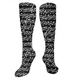 PecoStar Chaussettes hautes pour homme Motif partition de musique...