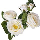 EWEFWFYT Künstliche Blume Mode 6 Köpfe Kamelie Blume Gefälschte Pflanzen Künstliche Blume Für Innenministerium