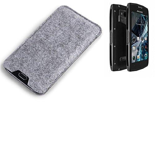 K-S-Trade Filz Schutz Hülle für Archos Sense 50 X Schutzhülle Filztasche Filz Tasche Case Sleeve Handyhülle Filzhülle grau