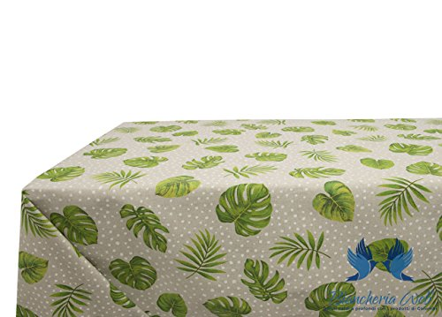 Nappe en 100% coton dessin EVA 140x240 Vert/blanc