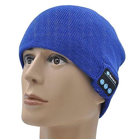 ONX3 Kyocera DuraForce Pro (bleu) Un Hiver Taille unisexe Beanie Hat Bluetooth avec haut-parleur stéréo sans fil prise casque