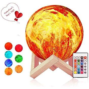 Lampes Interrupteur Led Lune Avec Télécommande Tactile Wanfei Table 16 Couleurs Rgb À Flamme 3dVeilleuse Moonlight 15cm Lampe De ZiPXOluwkT