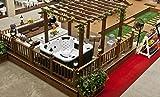 """perfect-spa Whirlpool """"Santiago"""" Indoor / Outdoor 5 Personen Whirlpools Aussenwhirlpool Jacuzzi Hot Tub Spa Außenwhirlpool Baboa Steuerung (Wanne SkyWhite, Außenverkleidung Schwarz) - 2"""
