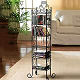 GWXJZ CD Storage Shelf DVD Simple modern black CD holder Iron storage shelf Storage rack