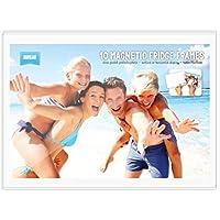 """BULK BUY - Pack of 10 magnetic photo fridge frames clear 4x6"""" (10x15cm)"""