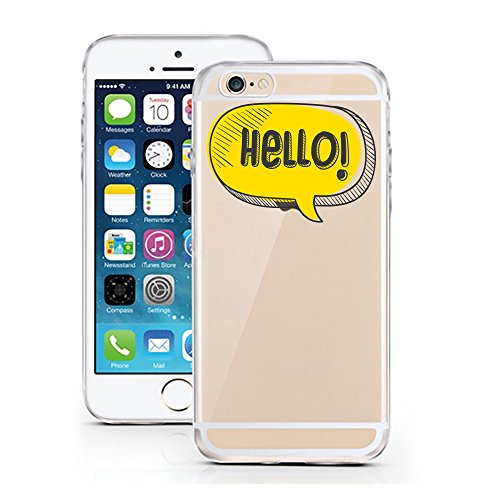 "licaso® iPhone 6 6S 4,7"" TPU Hülle Sketch Case transparent klare Schutzhülle Hülle iphone6 Tasche Cover (iPhone 6 6S 4,7"", Burger) Hello"