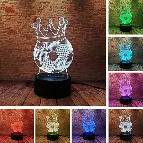 Fußball-Kranz Kreativ 3D LED-Lampen Nachtlicht Illusion Neuheit Humor Ambiente Visual Teil Lampe Lindo Geschenk für Kinder ()