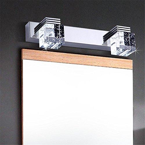 Luz delantera cristal luz lámpara pared cristal espejo