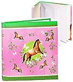 alles-meine.de GmbH Poesiealbum / Notizbuch -  Pferde & Schmetterlinge  - blanko weiß - Dickes Buch gebunden - 96 Seiten - Reisetagebuch / Tagebuch - Softcover / Fotobuch selbs..