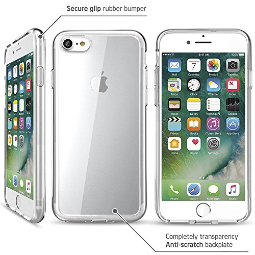 Coque iPhone 8, Coque iPhone 7, MTURE Ultra Mince Crystal Case iPhone 8 / iPhone 7 TPU Silicone Clair Transparente Exact Fit Soft Housse Etui Coque Pour iPhone 8 / iPhone 7 7 Tranparent
