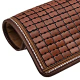 TY&WJ Sommer Sofabezug Ice Seide Bambusmatte Anti-rutsch Cool-Matte Für Wohnzimmer Outdoor Terrasse Haustier Hund & Kinder-Kaffeefarbe A 50x200cm(20x79inch)