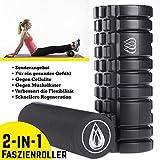 TeamSoda Fitness Massage-Set: 2 in 1 Faszienroller + Lacrosse Massageball + Speed rope - 2