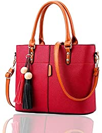Fargo Flames PU Leather Women's Satchel Handbag (Red_FGO-127)