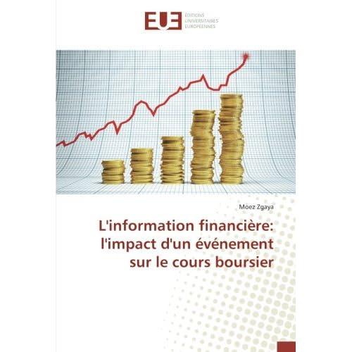L'information financière: l'impact d'un événement sur le cours boursier