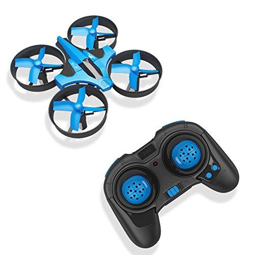 RCtown ELF Mini Drone 2,4 GHz 4CH Mini UFO Quadcopter Drone mit 6-Achsen-Gyro Headless Modus Fernbedienung Nano Quadcopter (Blau)