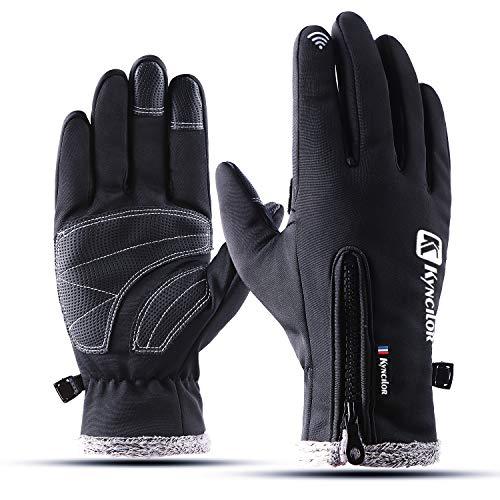 YYGIFT Upgrade Version Touchscreen Handschuhe Outdoor Sport Herren Damen Radsport Fahrrad Thermo Handschuhe mit warmen Fleece Futter Wasserdicht Winddicht Perfekt für Winter Herbst oder Frühling