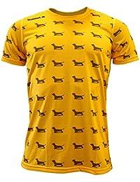 Luanvi Edición Limitada Camiseta técnica teckel, Hombre, Naranja, ...