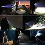 LED-Stirnlampe, Super Helle Lithium-Kopflampe,Wetterbeständiges Design,Stoßfest und Langlebig, Komfortabele für Jagd,Angeln ,Bergbau ,Camping , Lesen oder DIY usw (schwarz) -