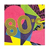 Boland 44608-Juego 12servilletas años '80, multicolor