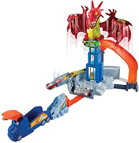 Hot Wheels- Hotwheels Monster High Juego Creativo Dragon Attack, (Mattel DWL04)