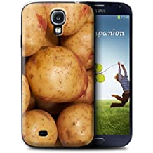 Carcasa/Funda STUFF4 dura para el Samsung Galaxy S4/SIV / serie: Comida - Patata
