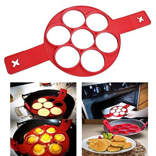 ILOVEDIY Fantastic Perfect Non stick Pancake Alimentaire Moule Anti-adhésif en Silicone Outil de Cuisine(7 tours)