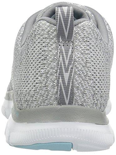 Skechers Damen Flex Appeal 2.0-high Energy Sneaker Weiß (bianco / Grigio)