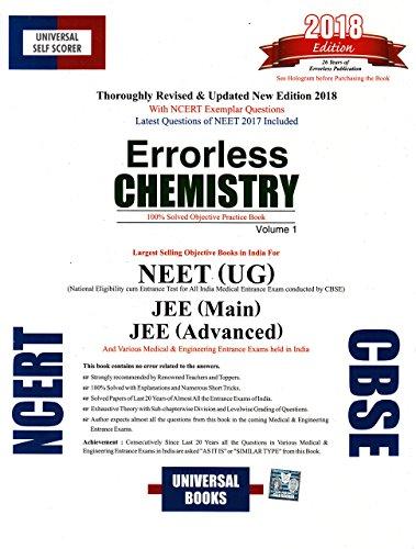 Universal Self-Scorer Errorless Chemistry (Set of 2 Volumes) EDITION 2018