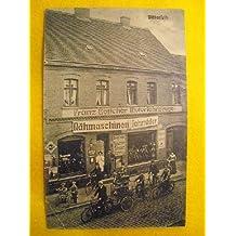 Antigua Postal Publicidad - Advertising Old Postcard : Franz Böttcher - fahrräder - bicicletas - nähmaschinen