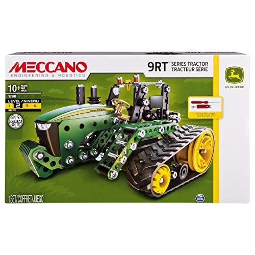 MECCANO 6038188 Bausatz für John Deere Traktor der Serie 9RT, Mint-Technik-Lernspielzeug für Kinder ab 10Jahren, Multicolour (John Kinder Deer Traktor)