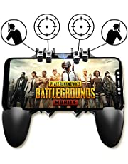 KimTok PUBG Trigger Controller for Mobile,4 Metal Triggers Game Grip for Shooting/Aiming/LR Probe