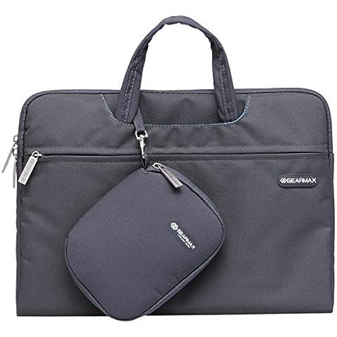 Borsa per notebook 10 pollici GEARMAX 11,6 pollici Fashion Design Lash borsa, il caso della tela di canapa Tablet per il computer portatile (GM3910) (grigio)