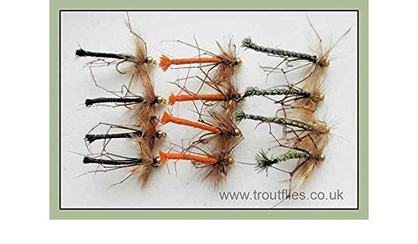 normal /& GOLDHEAD gemischt 12/Daddy Long Legs Fliegenfischen Fliegen abgesetztem