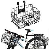 Hete-supply - Cestino da Bicicletta per Cani e Mountain Bike, Pieghevole, da Appendere, in Ferro, per Uomini e Donne, Colore: Nero