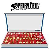Econoled Juego de llaves zodiacales doradas de personaje Lucy de Fairy Tail para juego de disfraces Rulercosplay + Cadena. Distribuidor de Estados Unidos