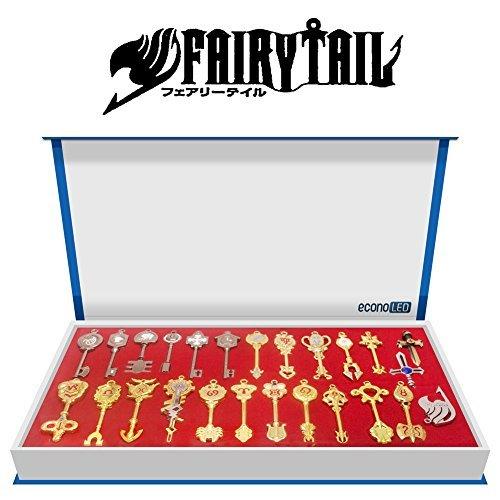 Econoled Rulercosplay Fairy Tail Lucy Nouvelle Collection Ensemble de  touches de zodiaque Doré + chaîne US e83d2f7f7131